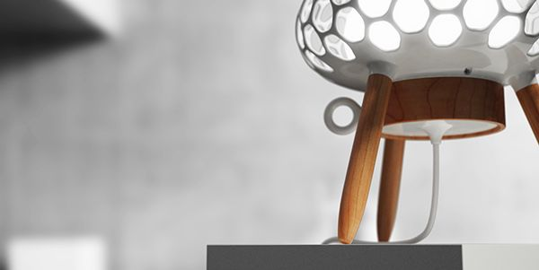 Design of a Table Lamp Inspired by Microscopic Ocean Life