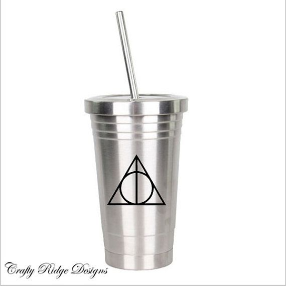 Deathly hallows decal vinyl decal tumbler decal cup by crafty ridge designs available on etsy