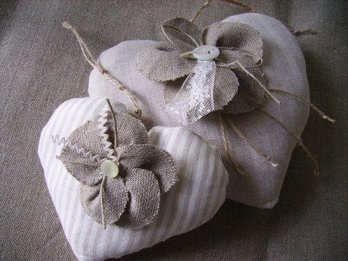 fleurs en lin