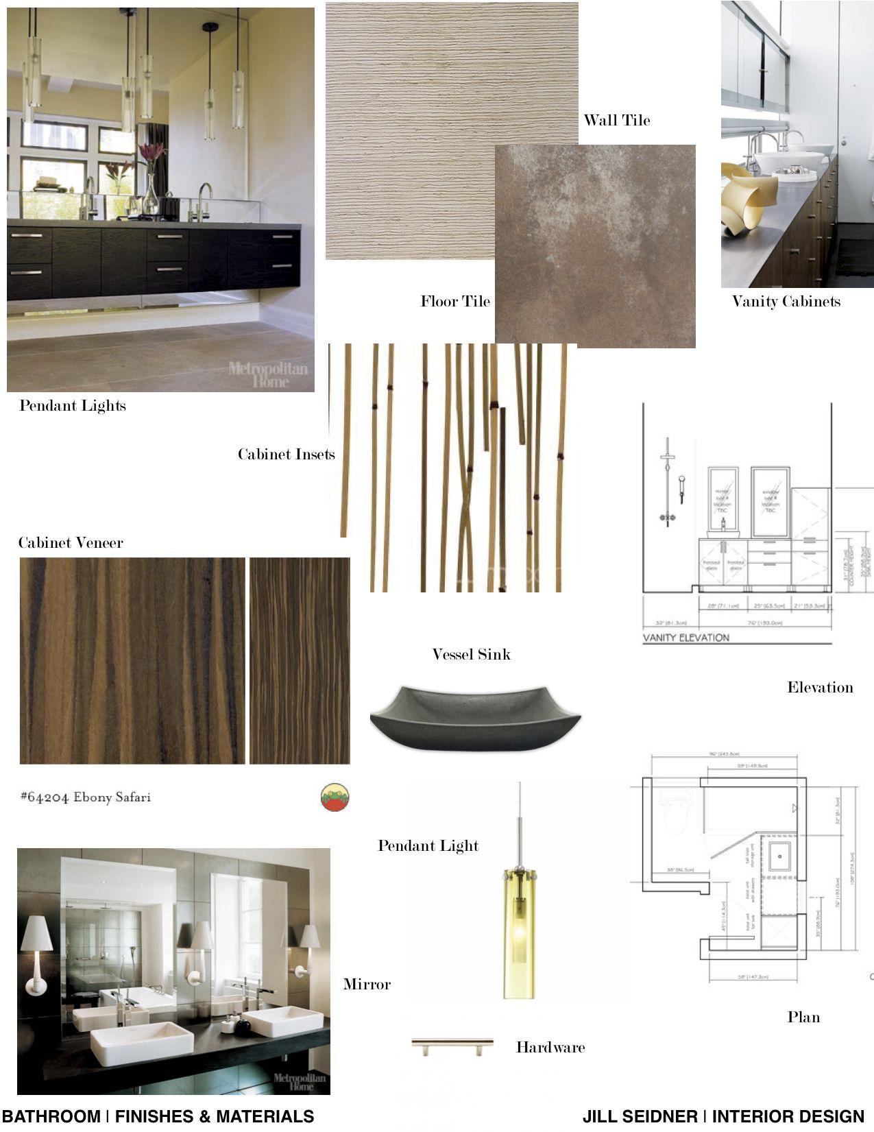 Concept Board For A Spa Bathroom Interior Design Mood Board
