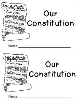 Constitution day very easy emergent reader kindergarten for Constitution day coloring pages