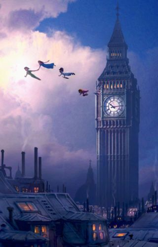 You Can Fly Disney Peter Pan Big Ben London Neverland Artwork Giclée