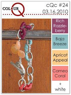 colourQ #24: March 2010 Rich Razzleberry Baja Breeze Apricot Appeal Cameo Coral