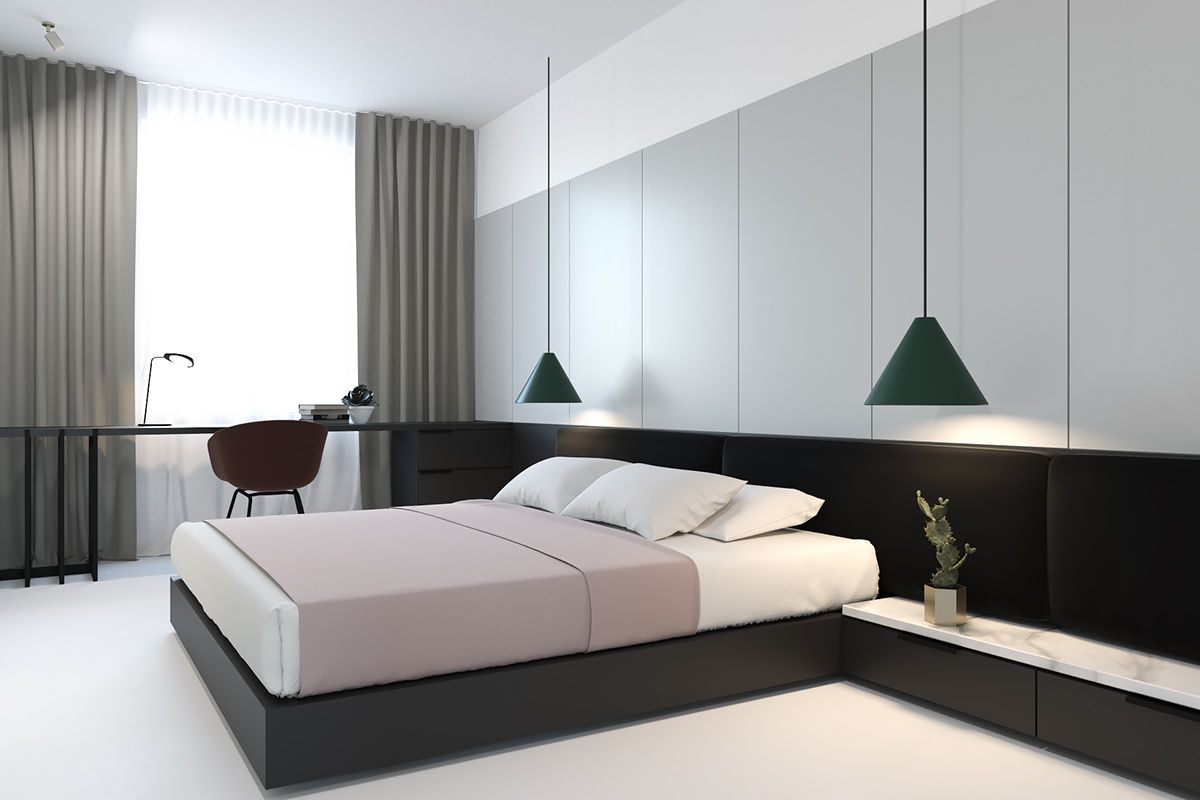 3 master bedroom apartments   Light and Bright Apartments Celebrating White Space  Apartments