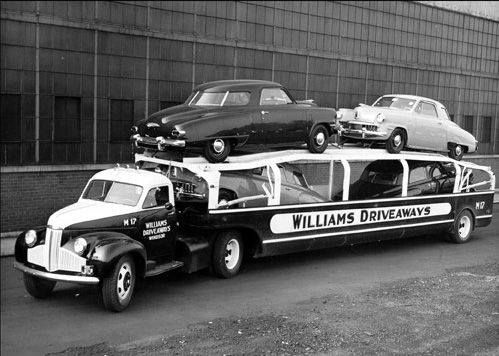 1951 Studebakers being delivered
