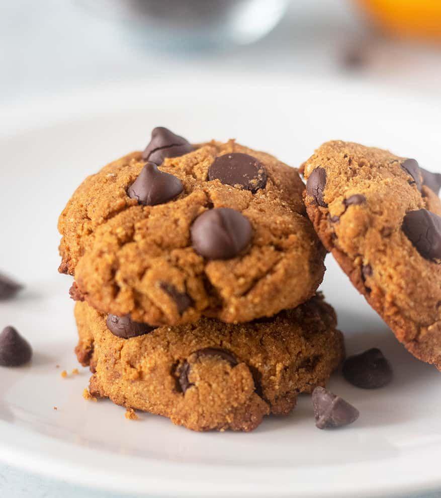 Pumpkin Chocolate Chip Coconut Flour Cookies (Paleo, DF, Gluten Free)