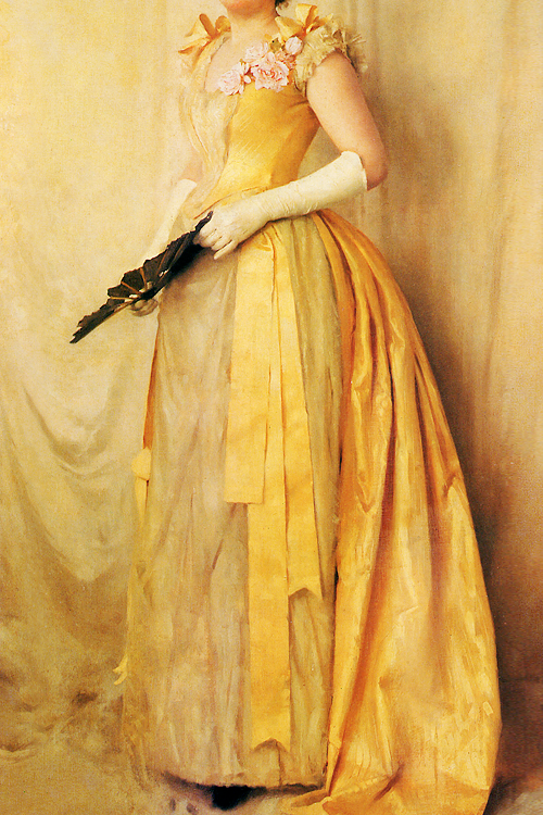 Incredible Dresses In Art 64 The Lady Gold By Thomas Cooper Gotch