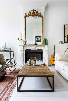 eclectic and curated living room | house tour on coco kelley