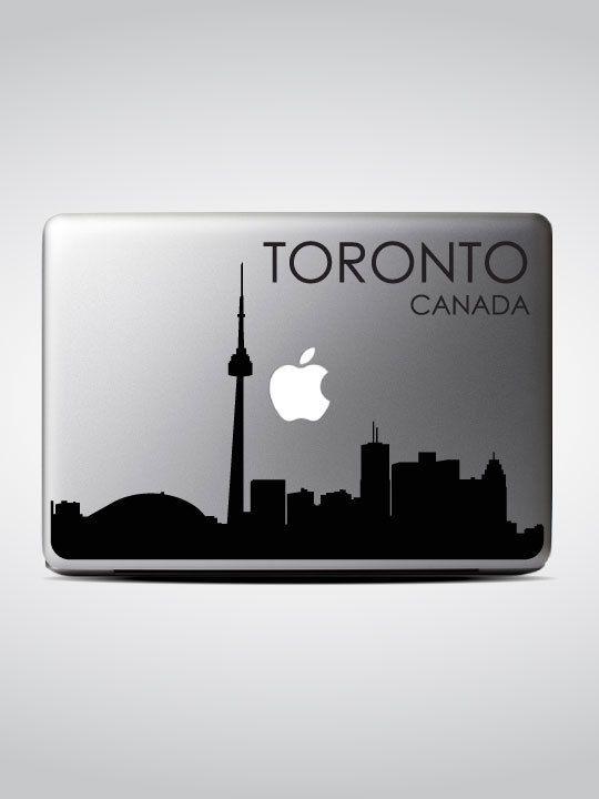 Toronto Skyline Macbook Decal 4 Macbook Sticker By