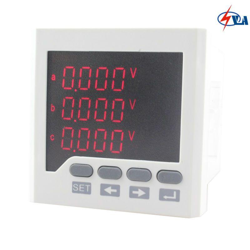 3d63 220v Panel Size 72 72mm Ammeter Voltmeter Three Phase Led Multimeter Affiliate Multimeter Digital Alarm Clock Led