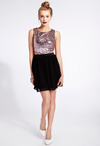 Glamorous Sequined Combo Dress Forever21 2000072765