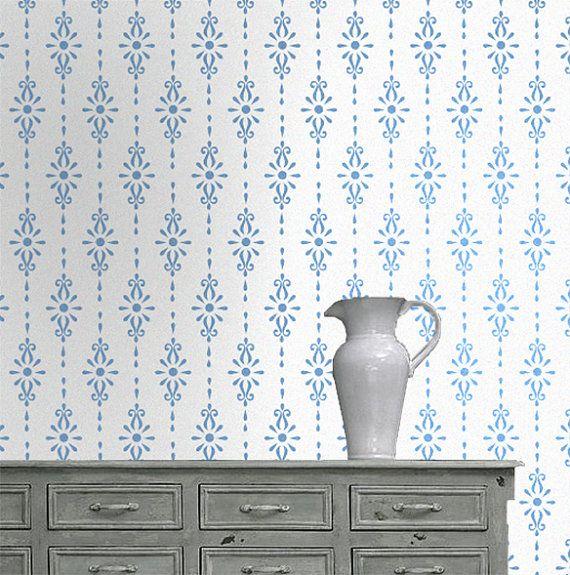 floral patter schablone malen muster schablone wand schablone schablone floral bilderrahmen. Black Bedroom Furniture Sets. Home Design Ideas