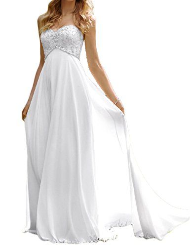 c50f1a03408f6 Myer Bridal Womens Sweetheart Beach Wedding Dress Beaded Empire Bridal Gown  155 * See this great product.