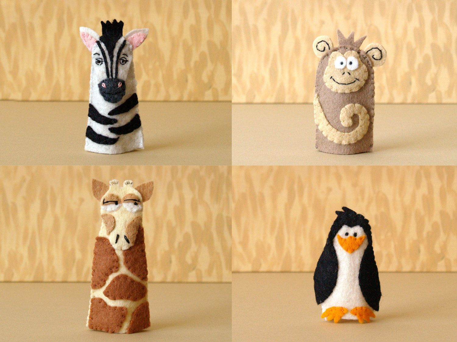 Super cute zoo animal finger puppets from Etsy.