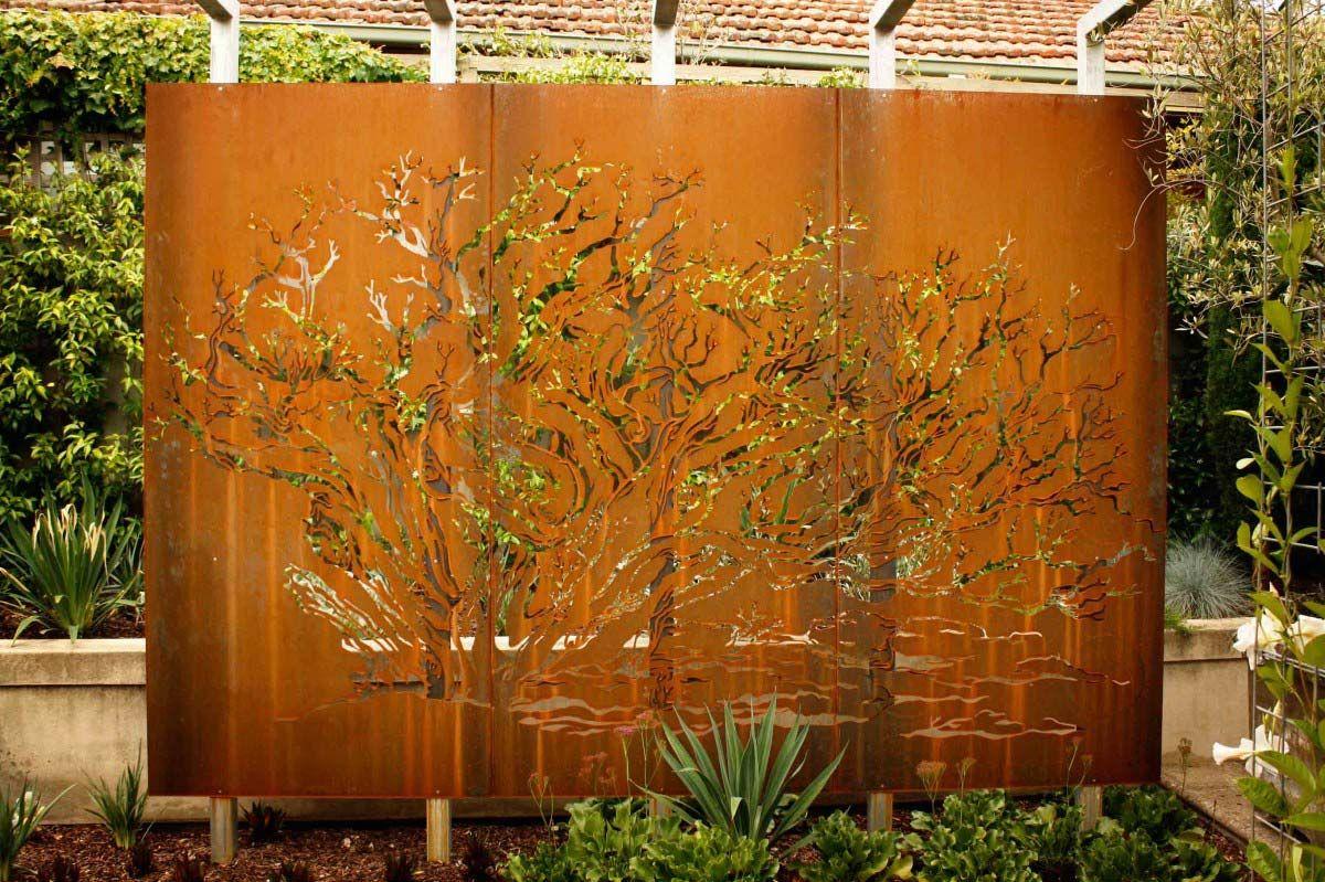 Metal Privacy Screen And Decorative Metal Garden Screens Melbourne