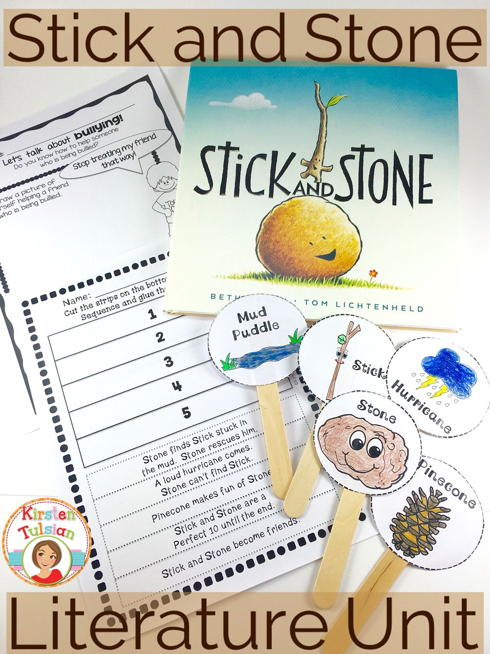This Stick and Stone literature unit is perfect for Kindergarten [ 1334 x 1000 Pixel ]