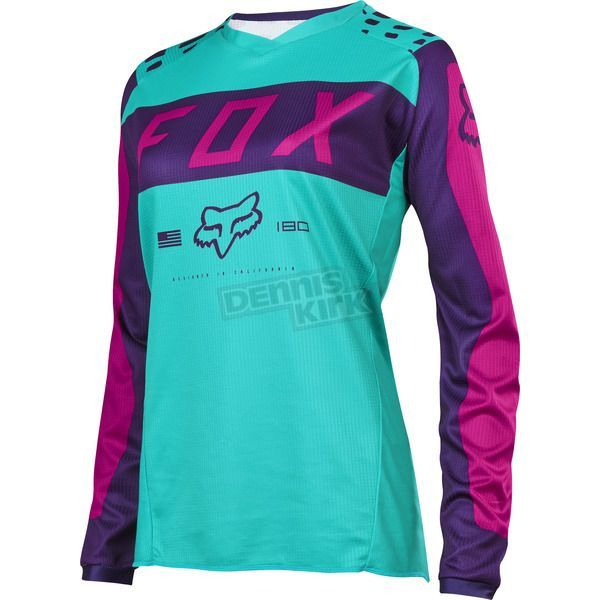 f36b610f136 Fox Women s Purple Pink 180 Jersey - 17273-533-L ATV Dirt Bike - Dennis  Kirk