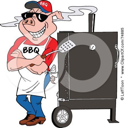 Steel BBQ grill smoking. This clipart is also available in jpg ...