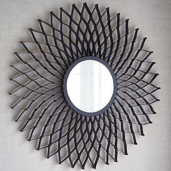 Dahlia Wall Mirror Mirror Wall Round Wall Mirror Personalized Wall Decor