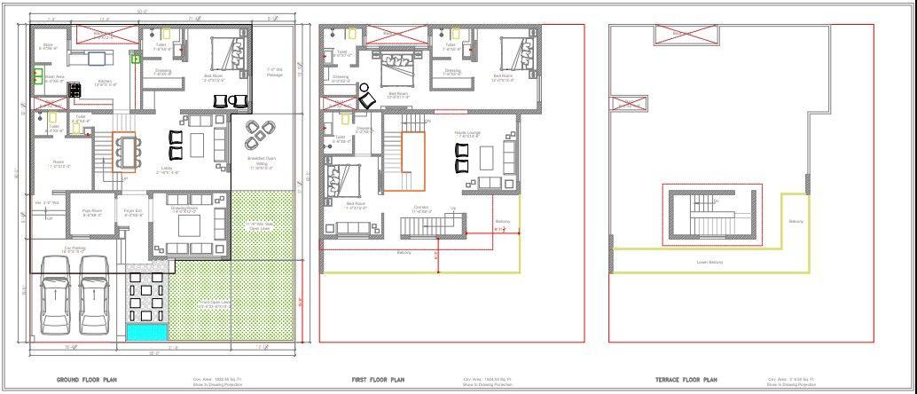 50x60 Luxurious 4bhk Duplex House Plan Architectural House Plans Duplex House Plans House Plans