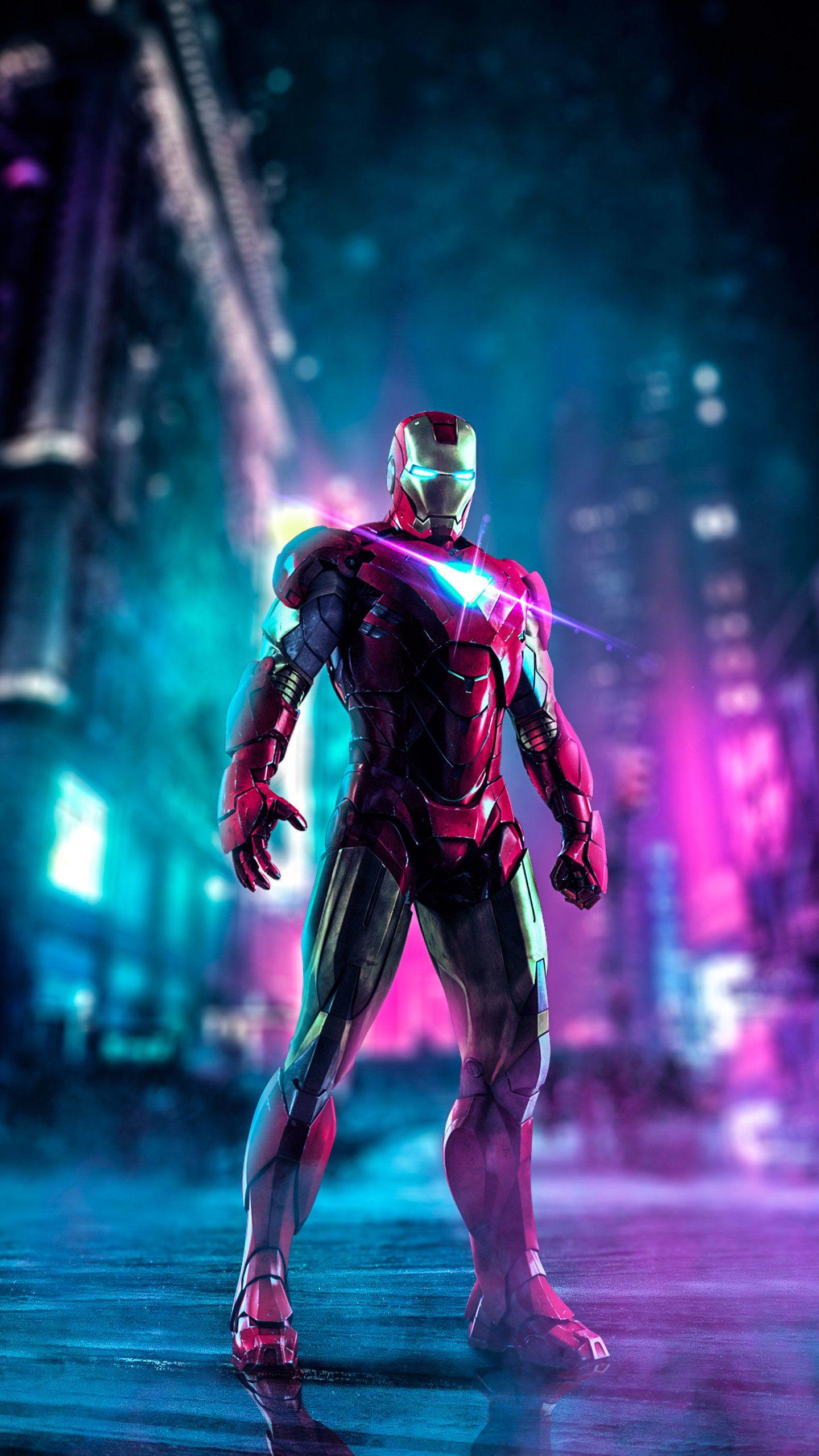 Iron Man Neon Art Hd Wallpaper In 2020 Iron Man Wallpaper Iron