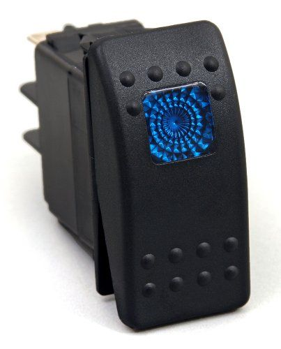 Daystar KU80011 20 Amp Blue Light Rocker Switch Kit Designed to connect and disconnect an electrical circuit at will. Ensures long lasting durability. Feature a light on the face of the switch. Easy installation.  #Daystar #Automotive_Parts_and_Accessories