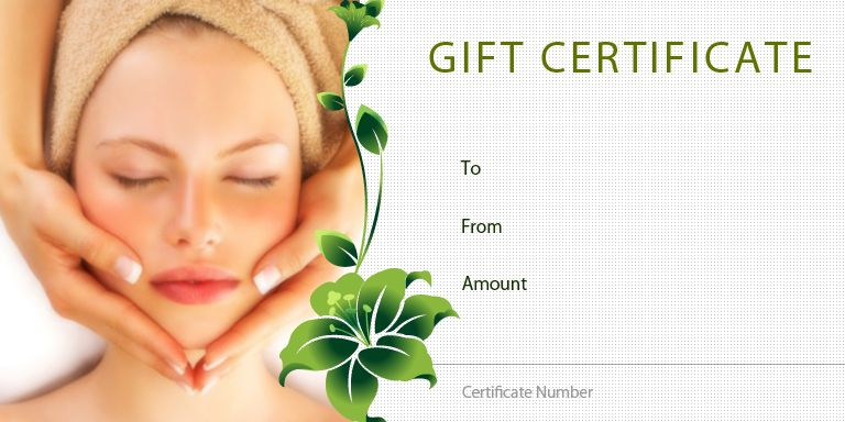 Spa gift certificate template homemade beauty products gift certificate template yelopaper Gallery