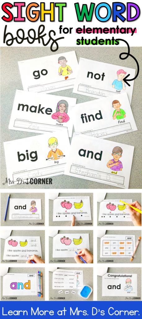 photograph relating to Printable Sight Word Books identified as Printable, Interactive Sight Phrase Publications for One of a kind Ed