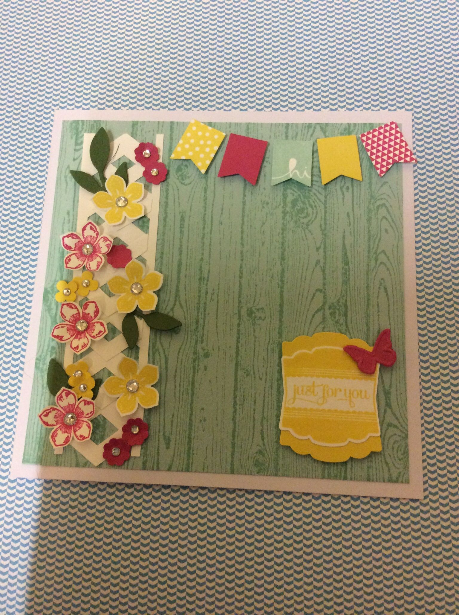 Hardwood, Petite Petals, Banner stamps and punch