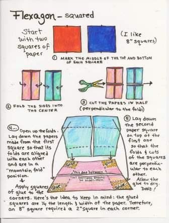 How To Make A Square Flexagon  Squares Book Binding And Paper Toys