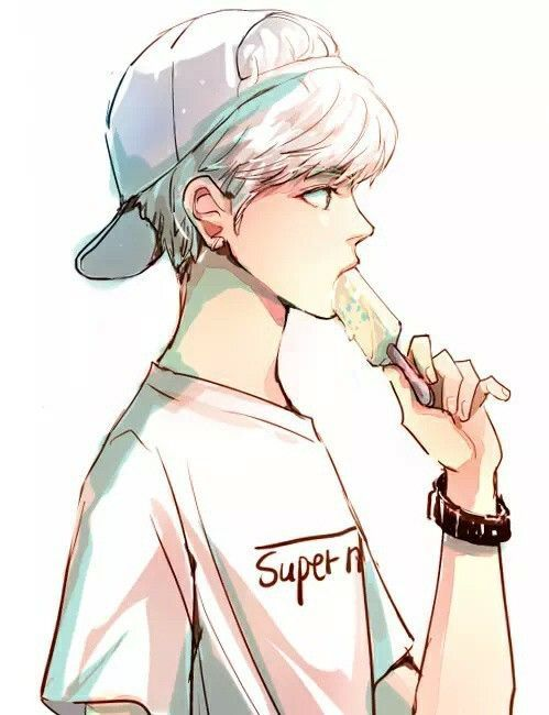 Anime Boy Eating Ice Cream Cute Thug Anime Drawings Boy Anime