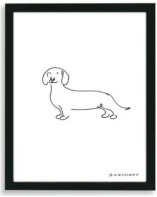 Dachshund Wall Art simple stencil and paint border | dachshund dog, dachshunds and dog