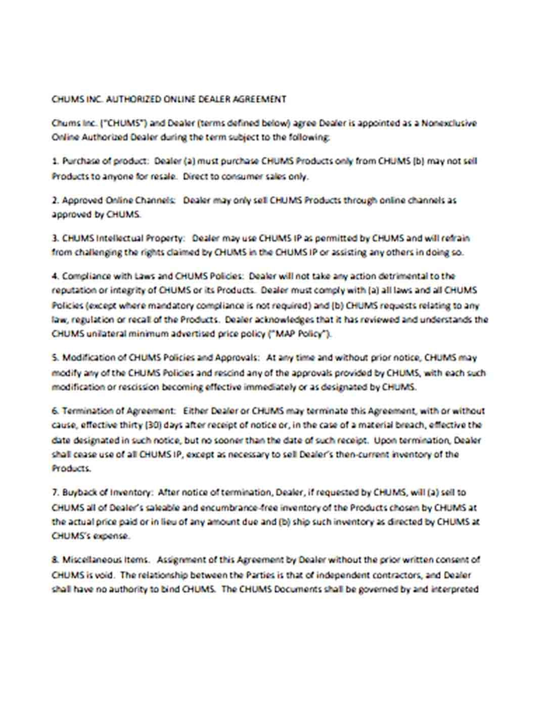 Authorized Agreement Template Business Template Templates Agreement