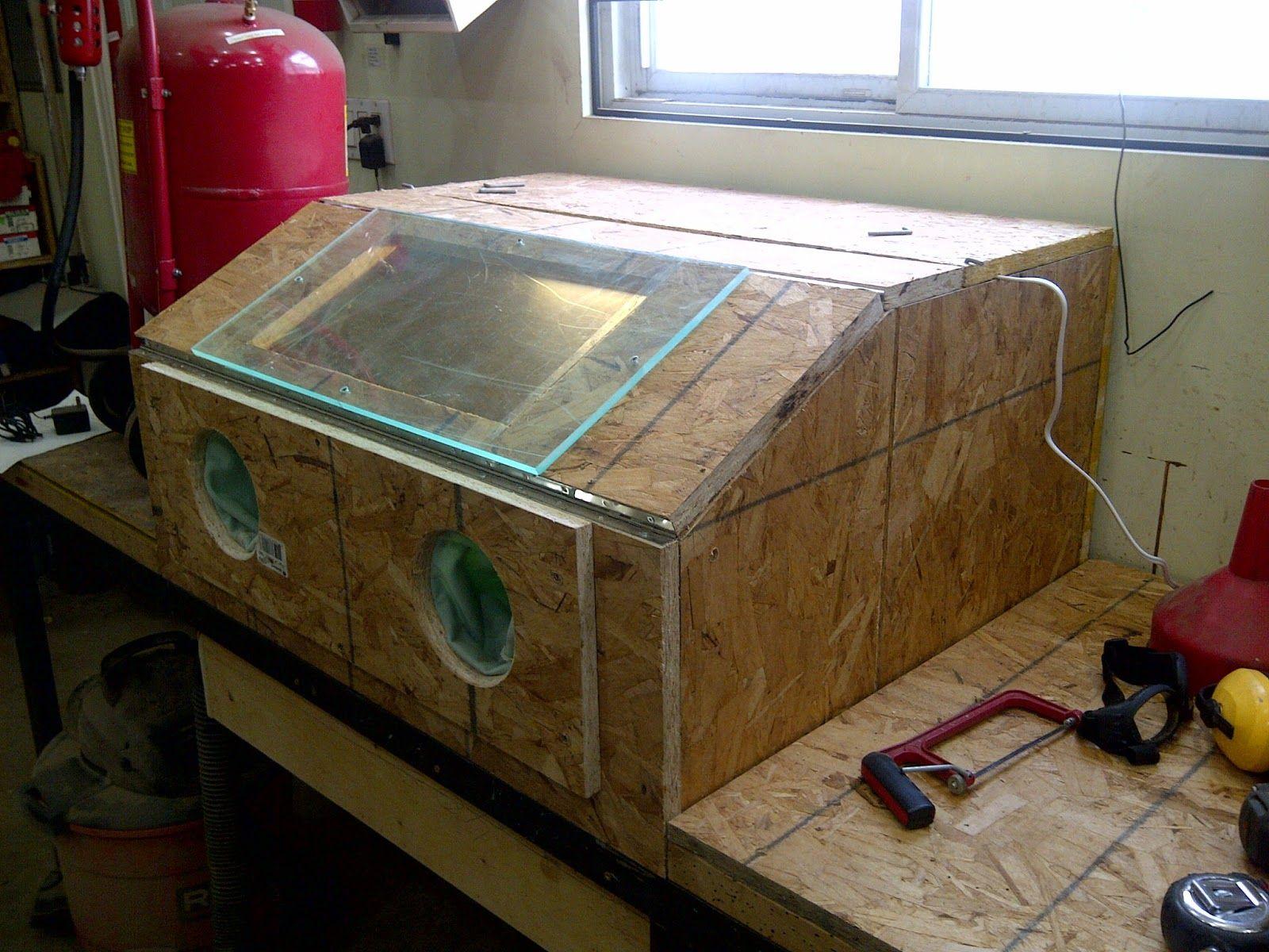 Sandblasting Cabinet Sandblasting Cabinet Homemade Tools Workbench