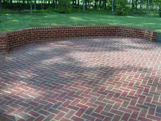 Brick Herringbone Patio