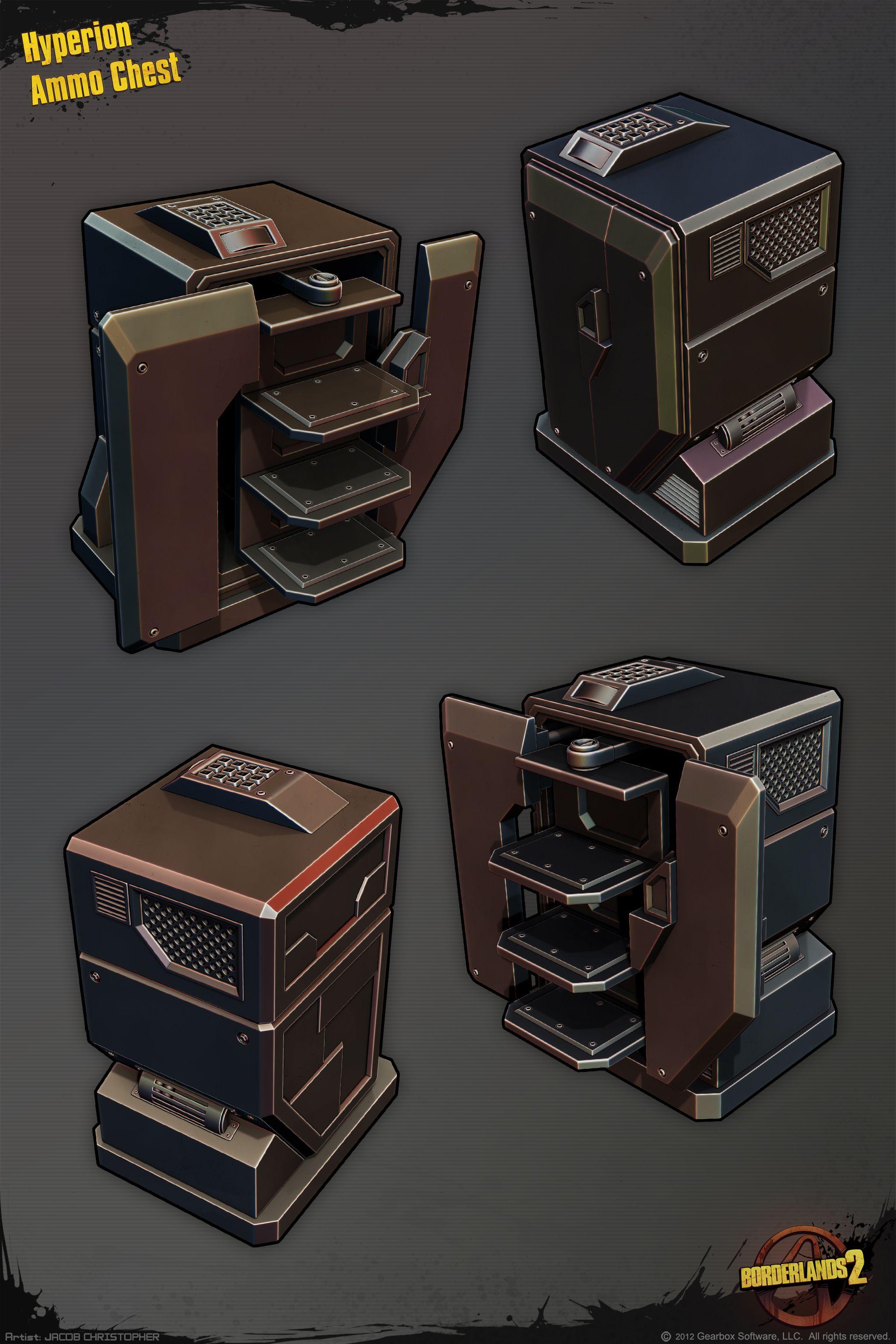 Hyperion Loot Chest Borderlands Art Weird Images Game Concept Art