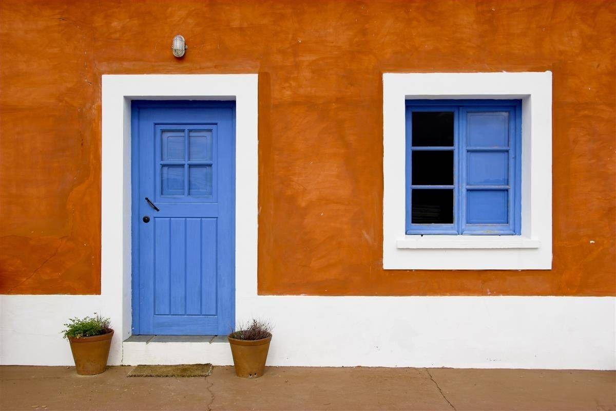 Une Chaux Orange Maison Orange Maisons Exterieures Galeries De Photos