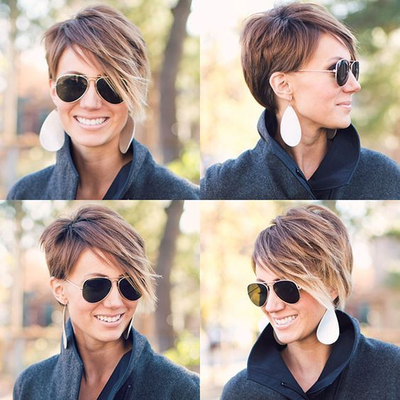 22 Amazing Long Pixie Haircuts For Women Simple Everyday Hairstyles Short Hair Styles Hair Styles Short Hair Long Fringe