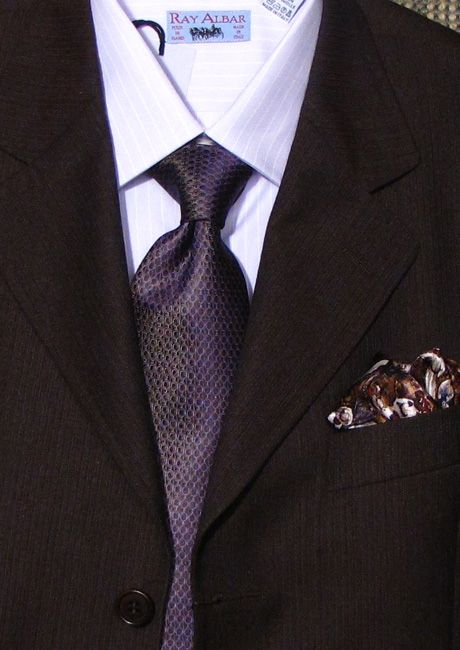 Brown suit, lilac shirt and purple tie | Ideas for the hubby ...