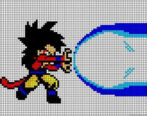 Dragon Ball Z Perler Bead Pattern Pixel Art Sangoku Dessin Pixel Image De Pixel