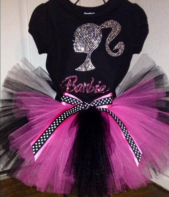 Barbie Zebra Theme 1st And 5th Birthday: Rhinestone Barbie Birthday Tutu Outfit Or Set Sizes