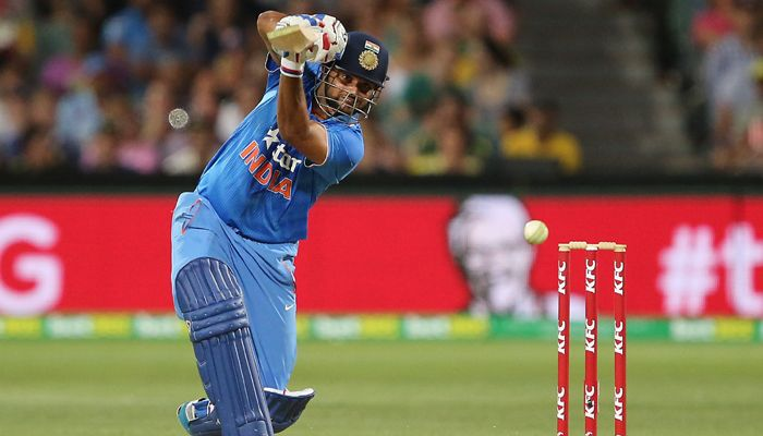 Raina has 1024 runs in T20s and is behind Kohli (1106) who is