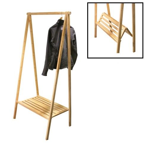 Garment Rack Bamboo To Live Wooden Clothes Rack Folding Clothes Rack Diy