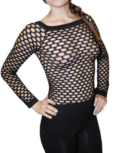 96af14cf8c2 New Sexy Long Sleeve Fishnet Shirt Top Bathing Suit Cover UpBlack -- You  can get more details by clicking on the image. (This is an affiliate link)  # ...