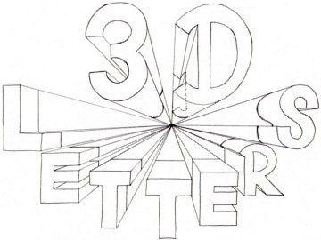 Comment dessiner les lettres 3d un point perspective 2840 perspective pinterest lettres 3d - Dessiner l alphabet ...