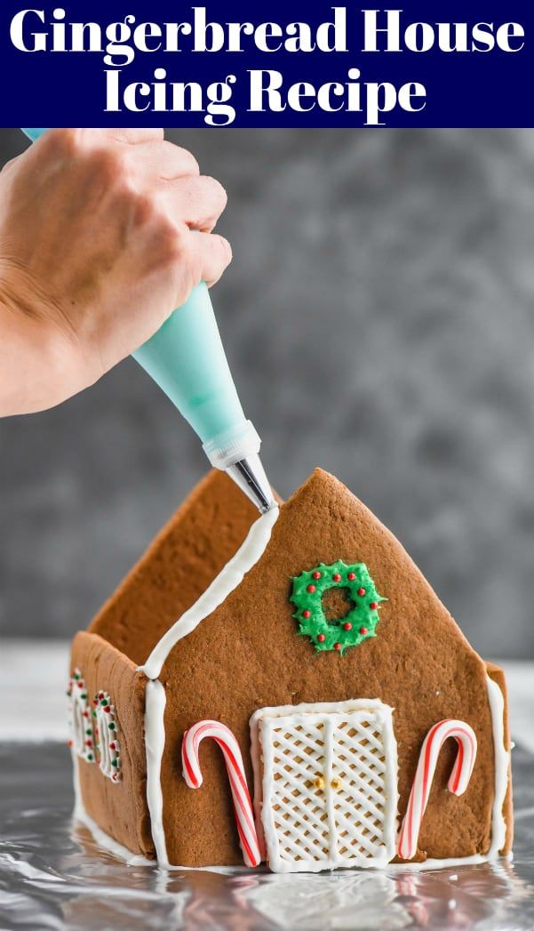Gingerbread House Icing #gingerbreadhousetemplate