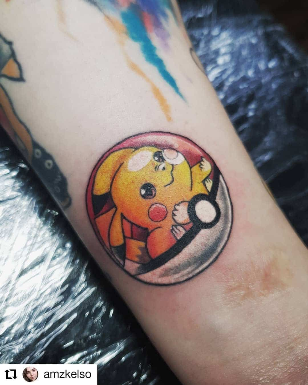 101 Awesome Pokemon Tattoo Designs You Need To See In 2020 Pokemon Tattoo Pikachu Tattoo Pokeball Tattoo