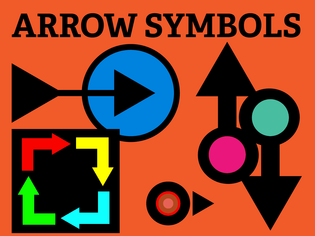 Selection Of Arrow Symbols For Illustrator Including Frame And Up