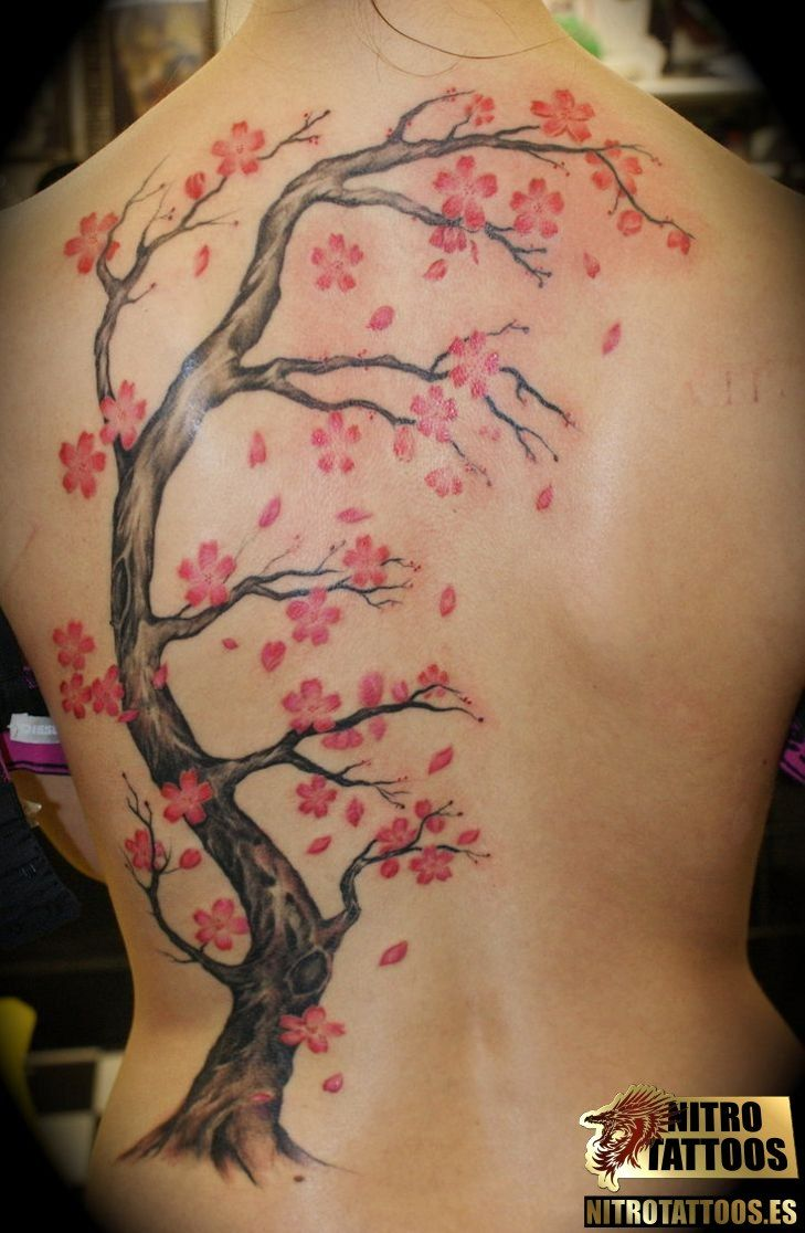 Fotos Tatuajes Arbol De Cerezo Tree Tattoos Pinterest Blossom