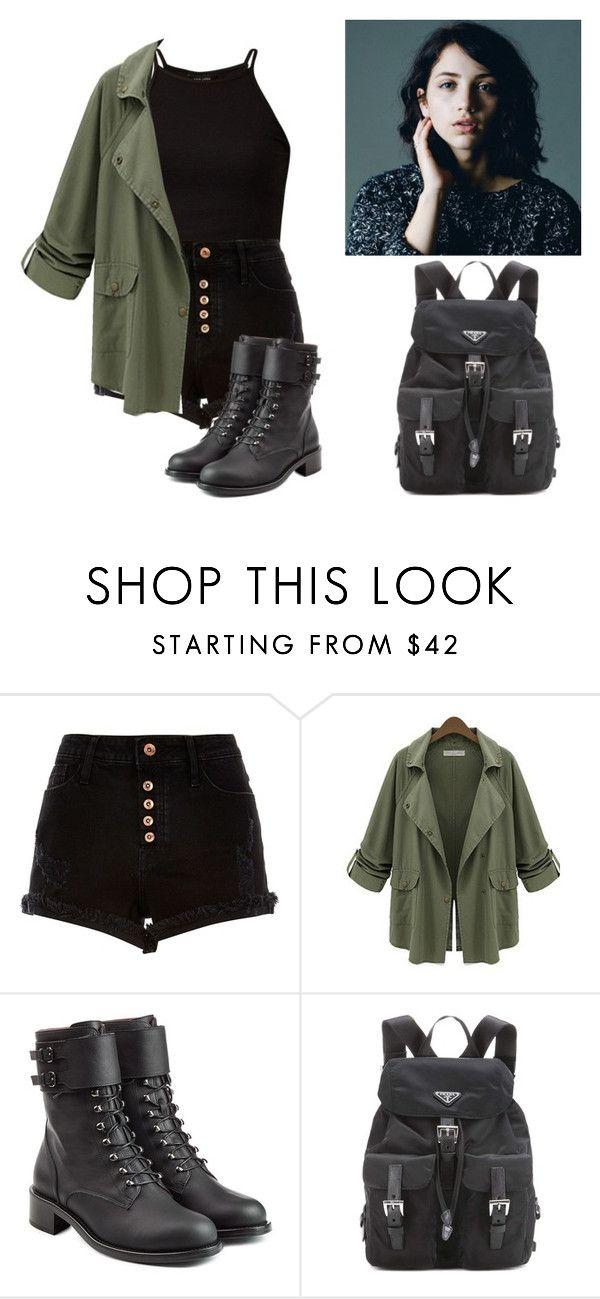 """Untitled #439"" by kawiwi on Polyvore featuring River Island, Chicnova Fashion, Philosophy di Lorenzo Serafini and Prada"